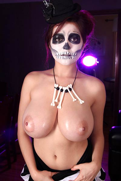 Model Tessa Fowler in VooDoo Boobs